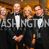 Leslie Cunningham,  James V. Reyes, Dave Jacobin, Laura Jacobin. Photo by Alfredo Flores. Catholic Charities Gala 2016. Washington Marriott Wardman Park Hotel. April 30, 2016