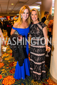 Julie Devol, Beth Lemek. Photo by Alfredo Flores. Catholic Charities Gala 2016. Washington Marriott Wardman Park Hotel. April 30, 2016