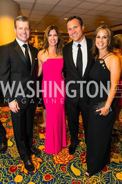Richard Kane, Ann Kane, Kevin DeSanto, Jenny DeSanto. Photo by Alfredo Flores. Catholic Charities Gala 2016. Washington Marriott Wardman Park Hotel. April 30, 2016