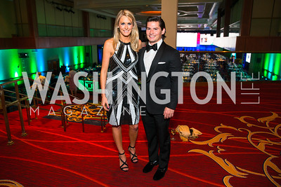 Kate Manders, Janathan Peel. Photo by Alfredo Flores. Catholic Charities Gala 2016. Washington Marriott Wardman Park Hotel. April 30, 2016