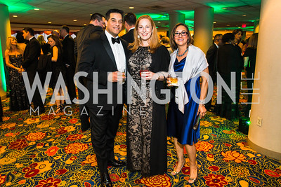 Art Gomez, Shannon Gomez, Beverly McKernie. Photo by Alfredo Flores. Catholic Charities Gala 2016. Washington Marriott Wardman Park Hotel. April 30, 2016