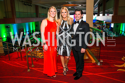 Katie Lemek, Kate Manders, Janathan Peel. Photo by Alfredo Flores. Catholic Charities Gala 2016. Washington Marriott Wardman Park Hotel. April 30, 2016