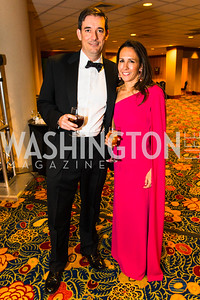 Matt O'Connor, Suzette O'Connor. Photo by Alfredo Flores. Catholic Charities Gala 2016. Washington Marriott Wardman Park Hotel. April 30, 2016