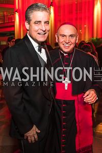 Dave Kane, Bishop Mario Dorsonville. Photo by Alfredo Flores. Catholic Charities Spanish Catholic Center Gala 2016. Ronald Reagan Building. October 28, 2016