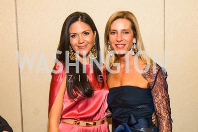 Carolina Corredor DeSouza, Andrea Cecchi. Photo by Alfredo Flores. Catholic Charities Spanish Catholic Center Gala 2016. Ronald Reagan Building. October 28, 2016