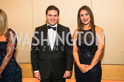 Ambassador Juan Carlos Pinzon, Pilar Pinzon. Photo by Alfredo Flores. Catholic Charities Spanish Catholic Center Gala 2016. Ronald Reagan Building. October 28, 2016