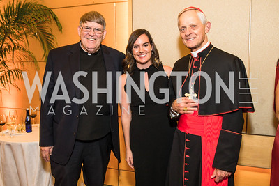 Monsignor John Enzler, Katie Atmonavage, Cardinal Wuerl. Photo by Alfredo Flores. Catholic Charities Spanish Catholic Center Gala 2016. Ronald Reagan Building. October 28, 2016