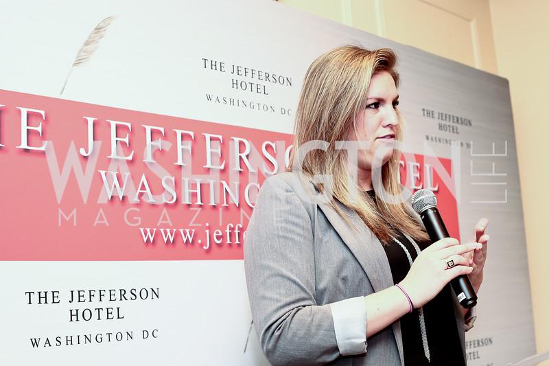 U.S. News & World Report Travel Editor Erin Shields. Photo by Tony Powell. Celebrating The Jefferson. March 7, 2016