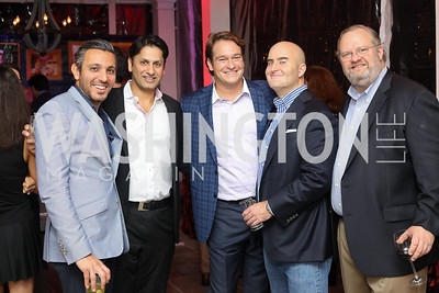 Pouyan Lotfi, Sanjeev Aggarwal, Brad Nierenberg, Dave Levanson, David Sherwood. Photo by Tony Powell. Chance for Life 2017 Kickoff. October 27, 2016