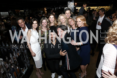 John Shulman, Tracy Foreman, Kay Kendall, Rasta Thomas, Alison Shulman, Septime Webre, Linda Potter and Tim Shriver, Debbie Dockser, Alexe Nowakowski. Photo by Tony Powell. DREAMscape VIP Dance Party. Mulebone. May 7, 2016
