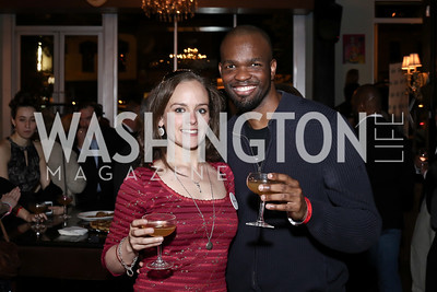 Sarah Ewing, Shawn Short. Photo by Tony Powell. DREAMscape VIP Dance Party. Mulebone. May 7, 2016