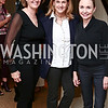 Patty Coleman, Sally Marvin, Megan Beyer. Photo © Tony Powell. Cocktails with 1 Atelier to Benefit Knock Out Abuse. March 29, 2016