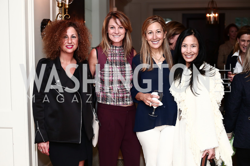 Nikki Safari, Kyle Mody, Dina Mackney, Jessica Bitar. Photo © Tony Powell. Cocktails with 1 Atelier to Benefit Knock Out Abuse. March 29, 2016
