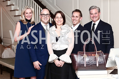 Cynthia Steele Vance, Frank Zambrelli, Stephanie Sarka, Anthony Luciano, Mark Lowham. Photo © Tony Powell. Cocktails with 1 Atelier to Benefit Knock Out Abuse. March 29, 2016