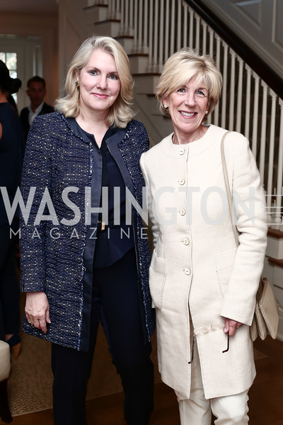 Jan Smith, Nancy McCorkindale. Photo © Tony Powell. Cocktails with 1 Atelier to Benefit Knock Out Abuse. March 29, 2016