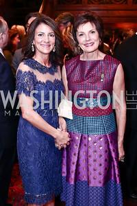 Jodi Bond, Maureen Orth. Photo by Tony Powell. Colombian President Visit. February 4, 2016
