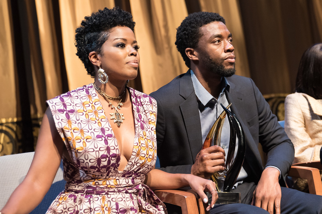 Malinda Williams and Chadwick Bosman.