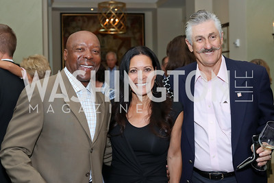 Vince and Denise Coleman, Rollie Fingers. Photo by Tony Powell. Creighton Farms Invitational. Salamander Resort. September 14, 2016