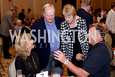 Debbie Clemens, Jack and Barbara Nicklaus, Roger Clemens. Photo by Tony Powell. Creighton Farms Invitational. Salamander Resort. September 14, 2016