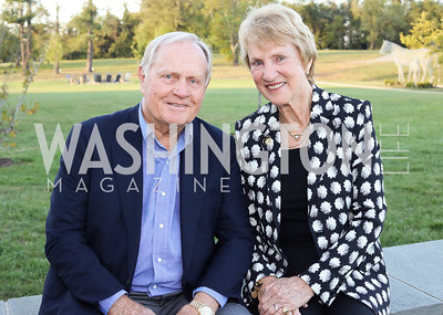 Jack and Barbara Nicklaus. Photo by Tony Powell. Creighton Farms Invitational. Salamander Resort. September 14, 2016