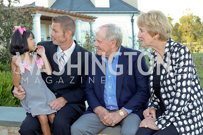 Lili and Jacques Rancourt, Jack and Barbara Nicklaus. Photo by Tony Powell. Creighton Farms Invitational. Salamander Resort. September 14, 2016