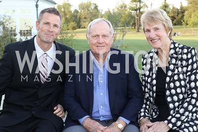 Jacques Rancourt, Jack and Barbara Nicklaus. Photo by Tony Powell. Creighton Farms Invitational. Salamander Resort. September 14, 2016