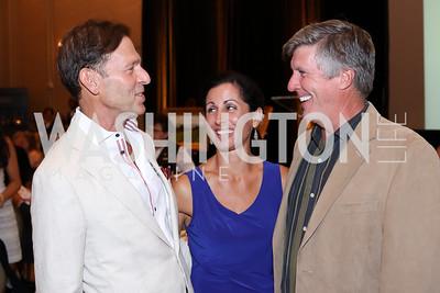 Joe Deitch, Lisa Genova, Bob Denson. Photo by Tony Powell. Creighton Farms Invitational. Salamander Resort. September 14, 2016