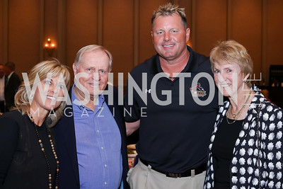 Debbie Clemens, Jack Nicklaus, Roger Clemens, Barbara Nicklaus. Photo by Tony Powell. Creighton Farms Invitational. Salamander Resort. September 14, 2016