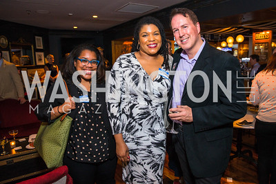 Daniella Belton, Yesha Callahan, Dave Singleton. Photo by Alfredo Flores. Crush Book Party. Pennsylvania 6. April 27, 2016