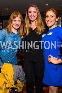 Erin McPike, Margaret Chaffe, Jayne Sandman, . Photo by Alfredo Flores. Crush Book Party. Pennsylvania 6. April 27, 2016