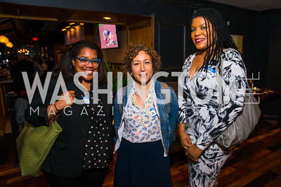 Daniella Belton, Hanna Rosin, Yesha Callahan. Photo by Alfredo Flores. Crush Book Party. Pennsylvania 6. April 27, 2016