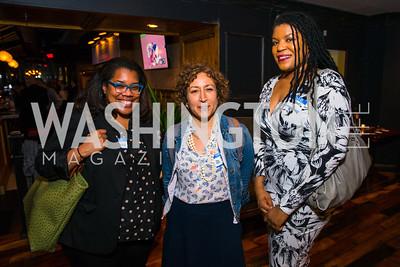 Daniella Belton, Hanna Rosin, Yesha Callahan. Photo by Alfredo Flores. Crush Book Party. Pennsylvania 6. April 27, 2016