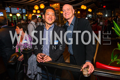 Howard Yoon, Bill Almond. Photo by Alfredo Flores. Crush Book Party. Pennsylvania 6. April 27, 2016