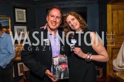 Dave Singleton, Cathy Alter, . Photo by Alfredo Flores. Crush Book Party. Pennsylvania 6. April 27, 2016