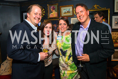 Shane Harris, Gail Ross, Dave Singleton. Photo by Alfredo Flores. Crush Book Party. Pennsylvania 6. April 27, 2016