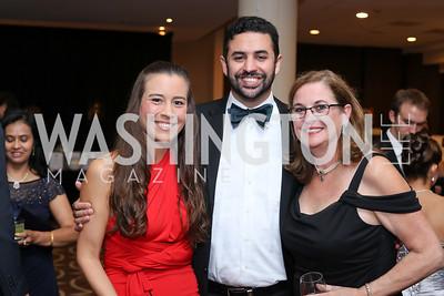 Amanda Cavanaugh, Cameron Massumi, Eileen Massumi. Photo by Tony Powell. 2016 DC Dancing Stars. Sheraton Tysons. November 5, 2016