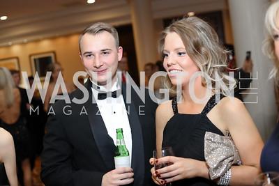Scott Cowman, Elaine Doody. Photo by Tony Powell. 2016 DC Dancing Stars. Sheraton Tysons. November 5, 2016