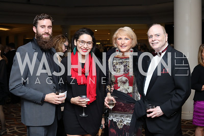 Gerald Pierce, Jennifer Zelaya, Lola Reinsch, Bill Detty. Photo by Tony Powell. 2016 DC Dancing Stars. Sheraton Tysons. November 5, 2016