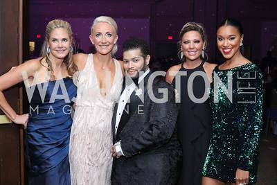 Celebrity Dancers Marsha Ralls, Krystal Koons, Derrick Rutledge, Peggy Ioakim, and Mikea Turner. Photo by Tony Powell. 2016 DC Dancing Stars. Sheraton Tysons. November 5, 2016