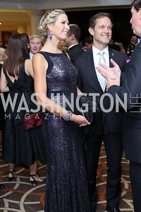 Laura Evans and Mike Manatos. Photo by Tony Powell. 2016 DC Dancing Stars. Sheraton Tysons. November 5, 2016