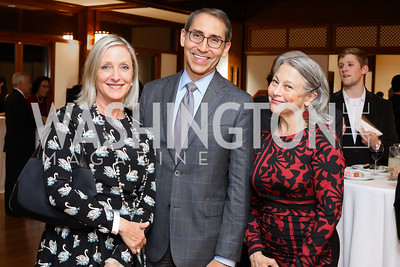 Jane Cafritz, Arthur Espinoza, Mary Noble Ours. Photo by Tony Powell. Dana Tai Soon Burgess 25th Anniversary. Residence of Korea. November 4, 2016