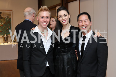 Jameson Freeman, Christin Arthur, Erick Hosaka. Photo by Tony Powell. Dana Tai Soon Burgess 25th Anniversary. Residence of Korea. November 4, 2016