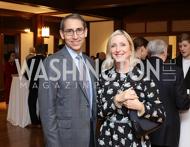Arthur Espinoza, Jane Cafritz. Photo by Tony Powell. Dana Tai Soon Burgess 25th Anniversary. Residence of Korea. November 4, 2016