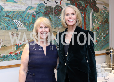 Leslie Kogod Libby, Board Chair Bonnie Kogod. Photo by Tony Powell. Dana Tai Soon Burgess 25th Anniversary. Residence of Korea. November 4, 2016