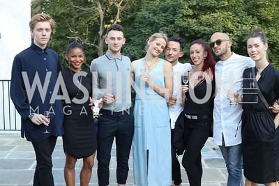 "Lukas Hartvig, Maxim-Jo Beck McGosh, Joe George, Milou Nuyens, Luca Marazia, Lucia Pasquini, Alessandro Pereira, Merete Hersvik. Photo by Tony Powell. Danish Dance Theatre ""Black Diamond"" Reception. Residence of Denmark. October 17, 2016"