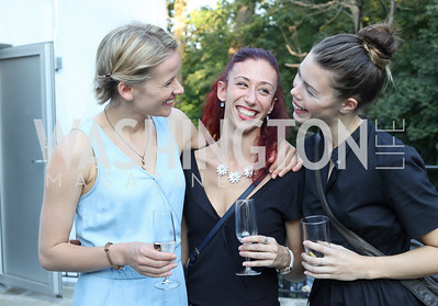 "Milou Nuyens, Lucia Pasquini, Merete Hersvik. Photo by Tony Powell. Danish Dance Theatre ""Black Diamond"" Reception. Residence of Denmark. October 17, 2016"