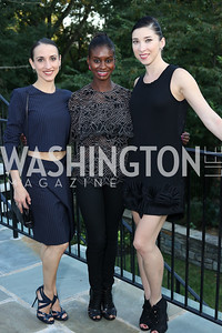 "Washington Ballet Dancers Nicole Graniero, Ashley Murphy and Kateryna Derechyna. Photo by Tony Powell. Danish Dance Theatre ""Black Diamond"" Reception. Residence of Denmark. October 17, 2016"