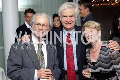 "George Jackson, Martin Wallen and Naima Prevots. Photo by Tony Powell. Danish Dance Theatre ""Black Diamond"" Reception. Residence of Denmark. October 17, 2016"