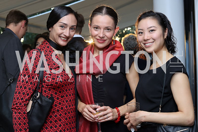 "Nancy Flores, Maya Zhalova-Kanwar, Asami Seki. Photo by Tony Powell. Danish Dance Theatre ""Black Diamond"" Reception. Residence of Denmark. October 17, 2016"