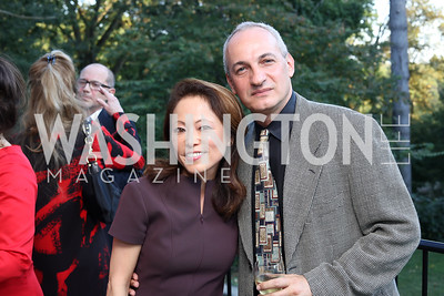 "Shigeko Bork, Vladimir Angelov. Photo by Tony Powell. Danish Dance Theatre ""Black Diamond"" Reception. Residence of Denmark. October 17, 2016"